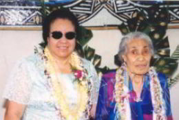 Emoni T Tesese and her mother, Avaganofoa Puni Tesese